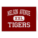 Nelson Avenue - Tigers - Middle - Oroville Greeting Card