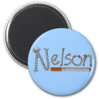 Nelson Cigarettes 2 Inch Round Magnet