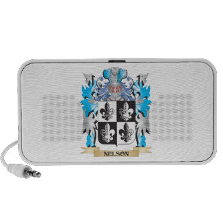 Nelson- Coat of Arms - Family Crest Notebook Speakers