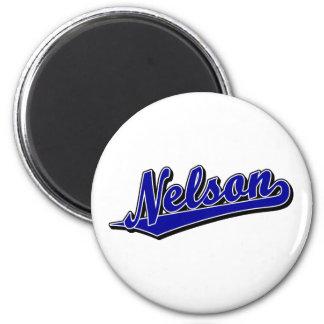 Nelson en azul imanes de nevera