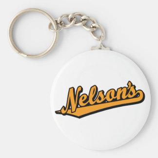 Nelson en naranja llavero redondo tipo pin