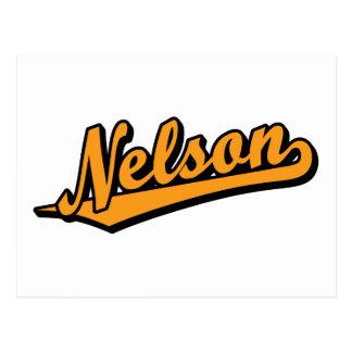 Nelson en naranja tarjetas postales
