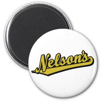 Nelson en oro iman de frigorífico
