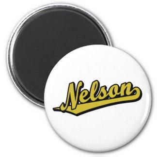 Nelson en oro imán para frigorifico