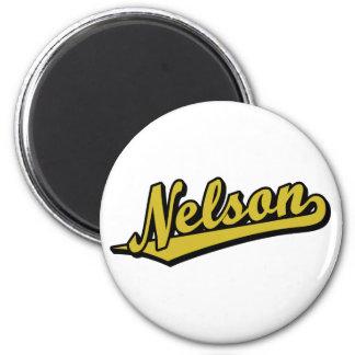 Nelson en oro imanes de nevera
