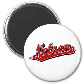 Nelson en rojo imán de frigorífico