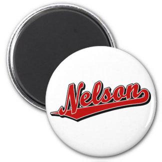 Nelson en rojo iman de frigorífico