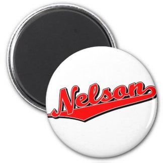 Nelson en rojo imán para frigorífico