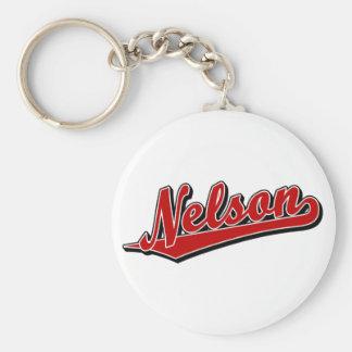 Nelson en rojo llavero redondo tipo pin