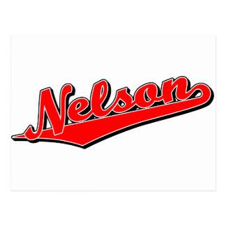 Nelson en rojo postales