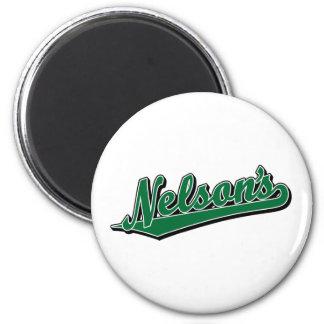 Nelson en verde imán para frigorifico