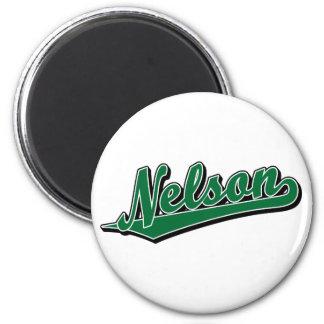 Nelson en verde imán de frigorifico