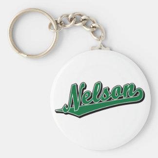 Nelson en verde llavero redondo tipo pin