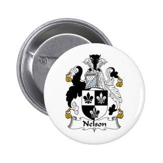 Nelson Family Crest 2 Inch Round Button