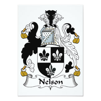 Nelson Family Crest 5x7 Paper Invitation Card