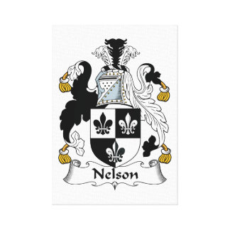 Nelson Family Crest Canvas Print