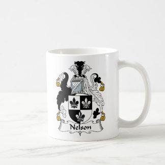 Nelson Family Crest Classic White Coffee Mug