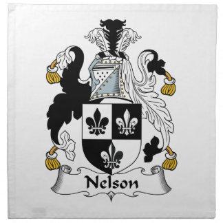 Nelson Family Crest Cloth Napkins