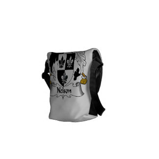 Nelson Family Crest Courier Bags