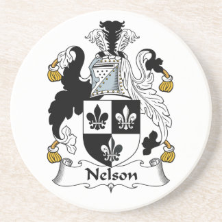Nelson Family Crest Drink Coasters