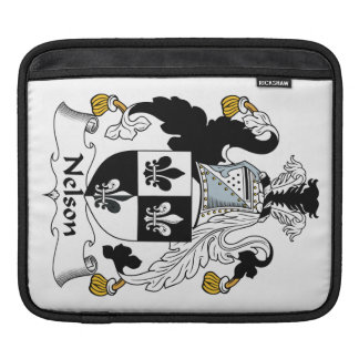 Nelson Family Crest iPad Sleeves