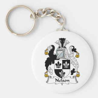 Nelson Family Crest Key Chain