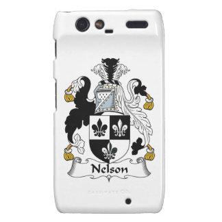 Nelson Family Crest Motorola Droid RAZR Cases