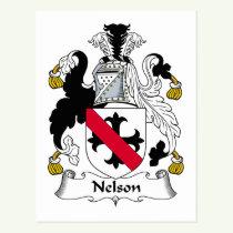 Nelson Family Crest Postcard