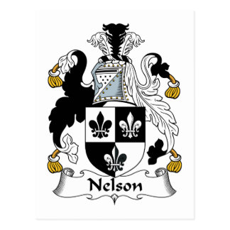 Nelson Family Crest Postcards