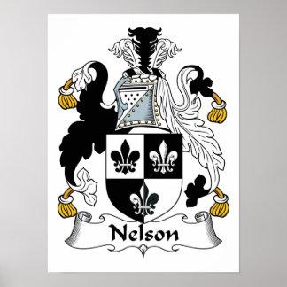 Nelson Family Crest Poster