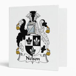 Nelson Family Crest Vinyl Binders