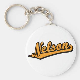 Nelson in Orange Basic Round Button Keychain
