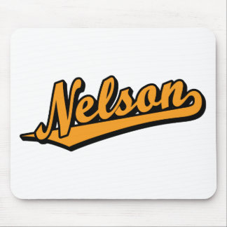 Nelson in Orange Mouse Pad