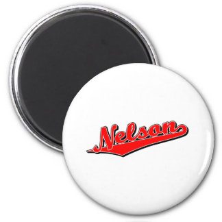 Nelson in Red 2 Inch Round Magnet