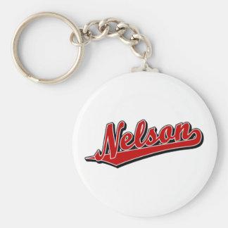 Nelson in Red Basic Round Button Keychain