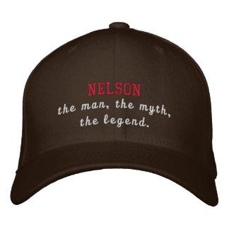 Nelson la leyenda gorras bordadas
