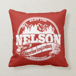 Nelson Old Circle Red Throw Pillow