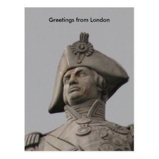 Nelson, saludos de Londres Tarjeta Postal