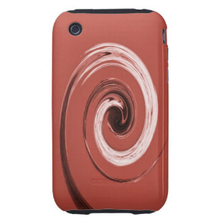 Nelson Swirl Red iPhone 3 Tough Cover