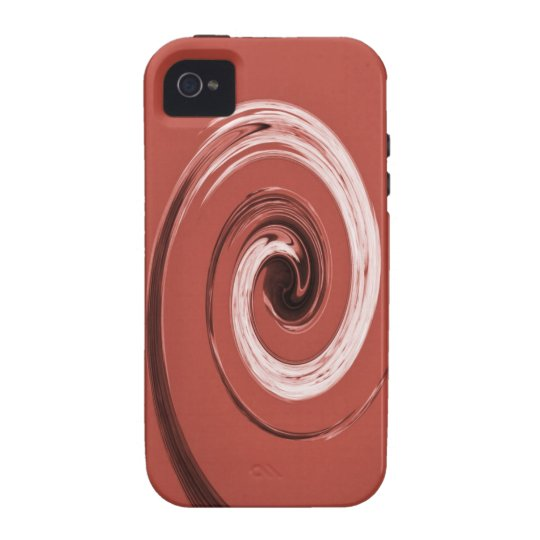 Nelson Swirl Red Vibe iPhone 4 Case