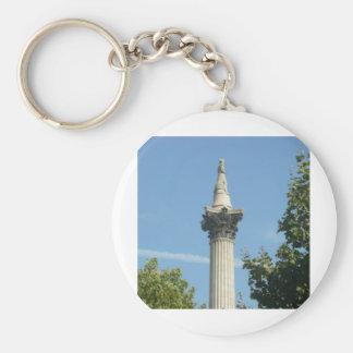 Nelson's Column Basic Round Button Keychain