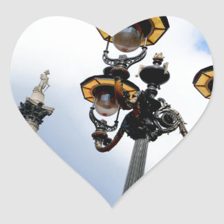 Nelson's Column London Heart Sticker