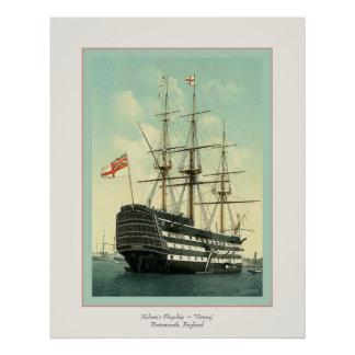 Nelson's Flagship ~ 'Victory' Poster