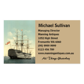 Nelson's HMS Victory Double-Sided Standard Business Cards (Pack Of 100)