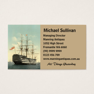 Nelson's HMS Victory Business Card