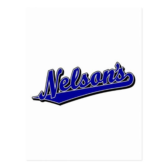 Nelson's in Blue Postcard