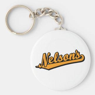 Nelson's in Orange Basic Round Button Keychain