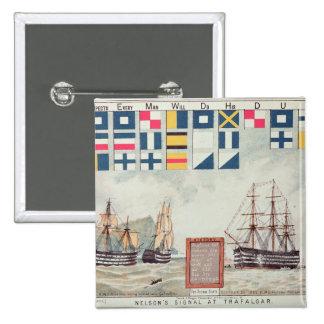 Nelson's signal at Trafalgar Button