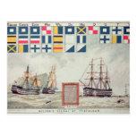 Nelson's signal at Trafalgar Postcard