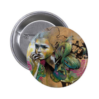 Nema Reflects on Peculiar Events Pinback Button